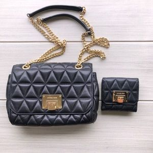 Michael Kors Quilted Leather Shoulder Bag + Wallet